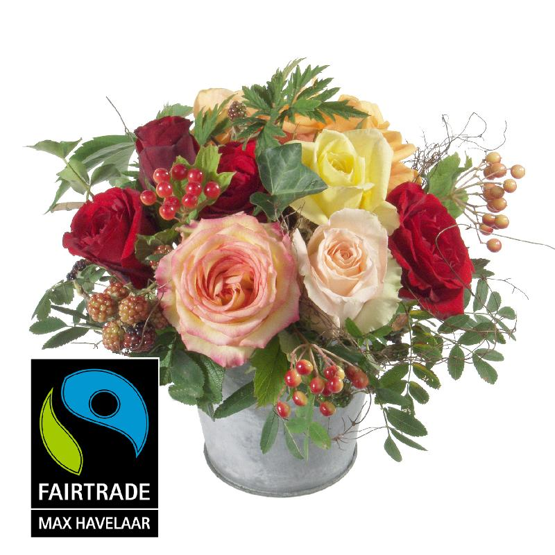 Bouquet de fleurs Magic of Rose with Fairtrade Max Havelaar-Roses, big blooms