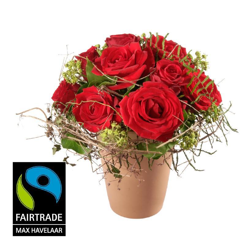 Bouquet de fleurs In Love ... with Fairtrade Max Havelaar-Roses, small blooms
