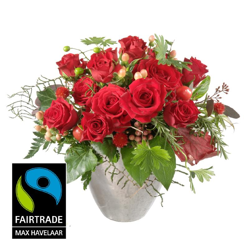 Bouquet de fleurs For my Sweetheart, with Fairtrade Max Havelaar-Roses, small