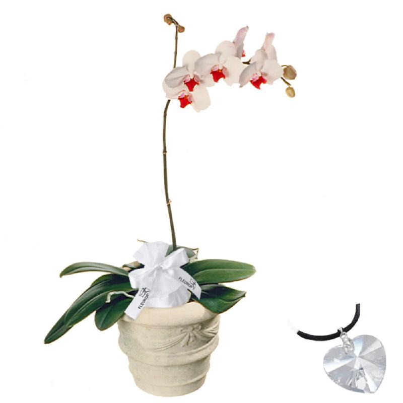Bouquet de fleurs Exquisite Elegance, with Swarovski® crystal heart