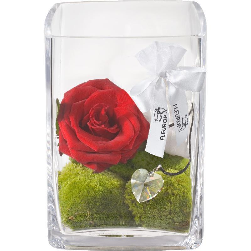 Bouquet de fleurs For my Love, with Swarovski® crystal heart