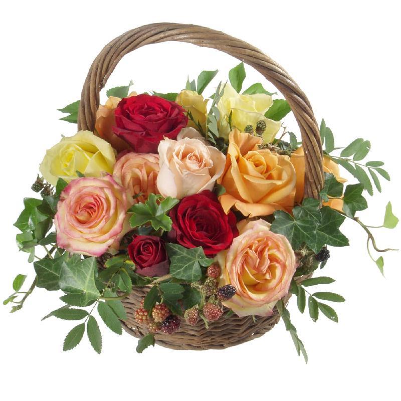 Bouquet de fleurs Basket Full of Roses