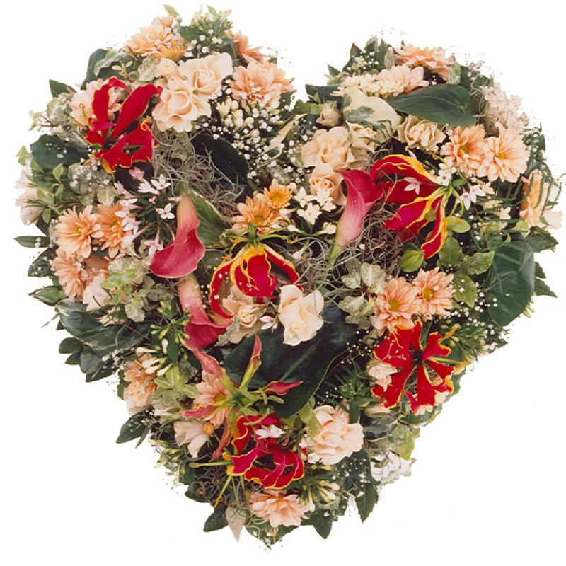 Bouquet de fleurs Arrangement: Seasonal Flower Heart