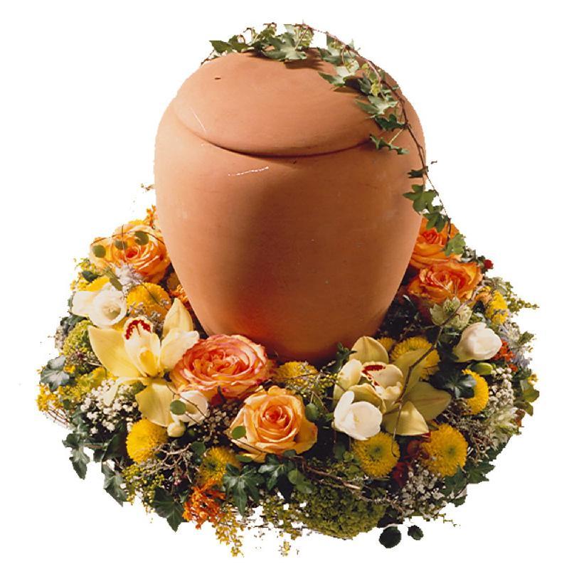 Bouquet de fleurs Wreath for a Urn