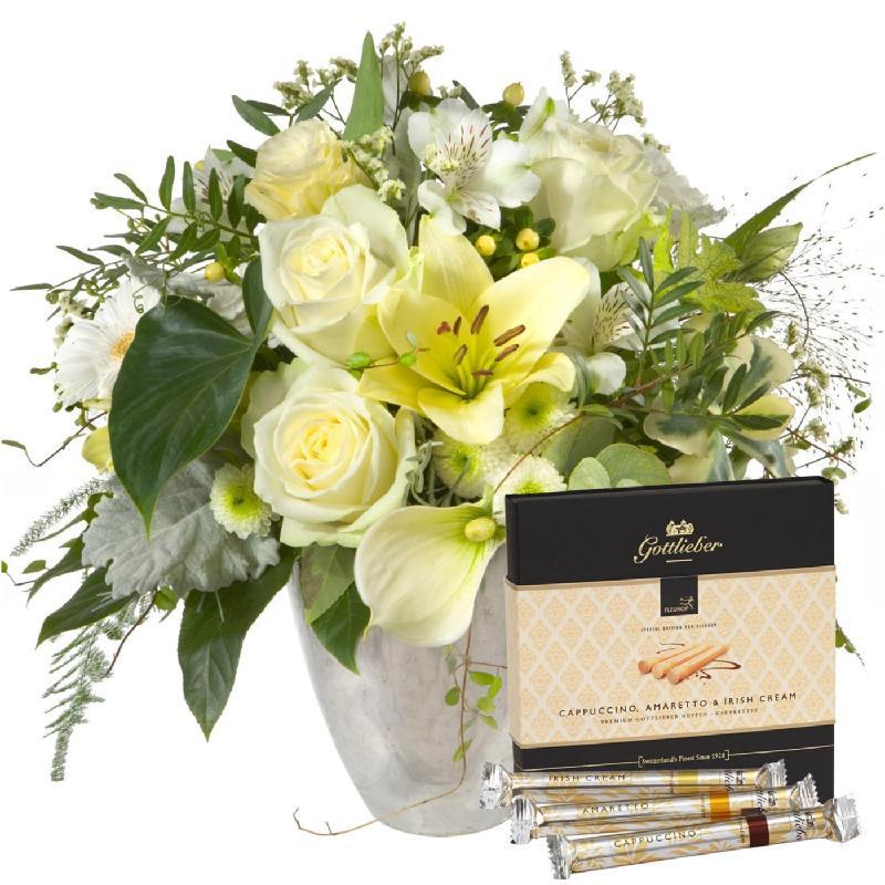 """Bouquet de fleurs Deluxe Bouquet with Gottlieber Hüppen """"Special Edition for F"""
