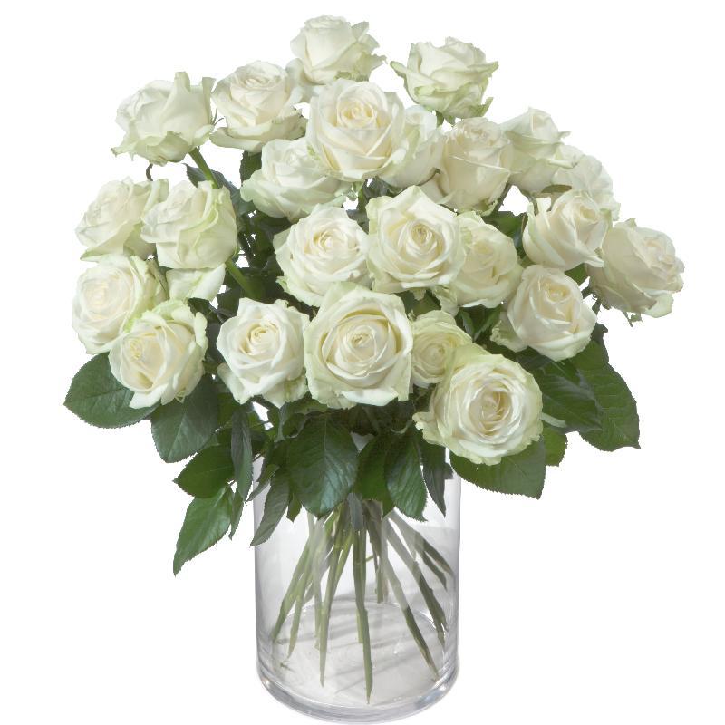 Bouquet de fleurs 24 White Roses