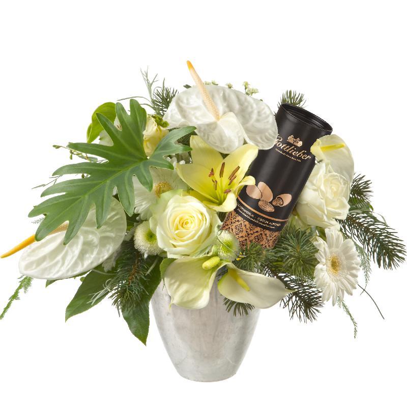 Bouquet de fleurs Simply Heavenly ... with Gottlieber cocoa almonds