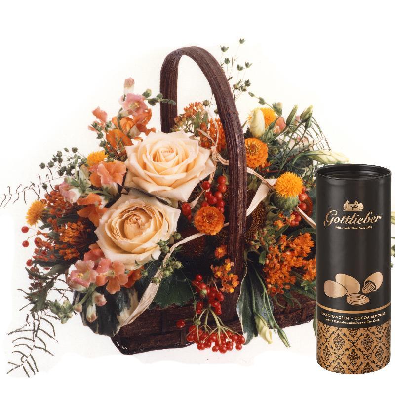 Bouquet de fleurs Charming Jewel with Gottlieber cocoa almonds