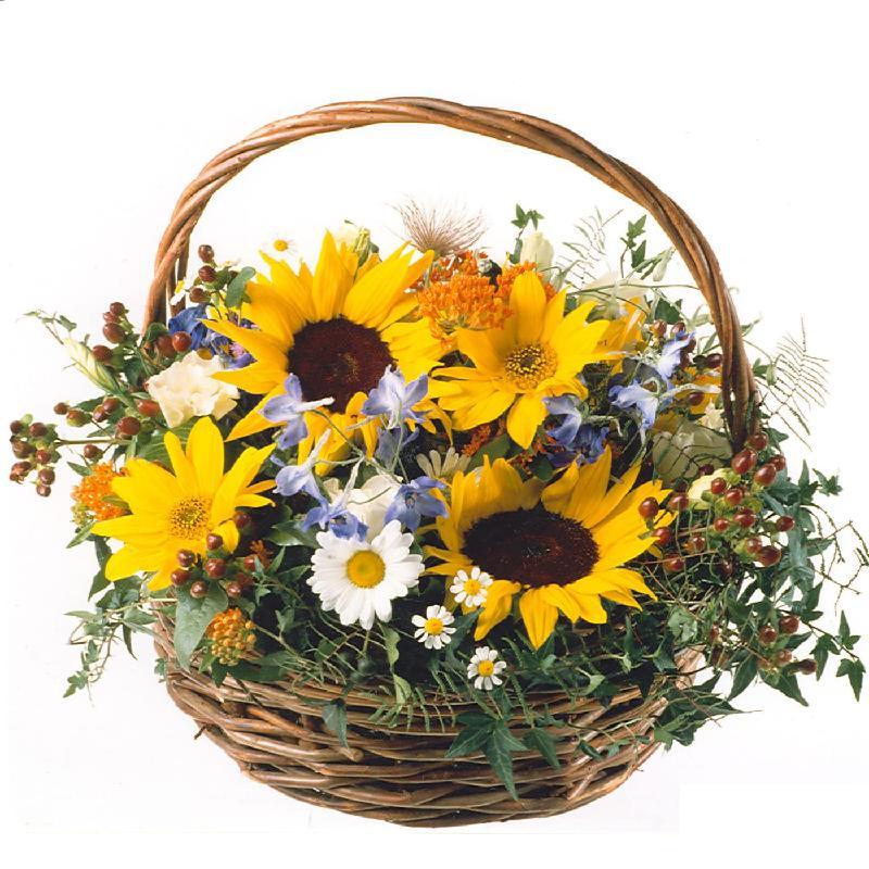 Bouquet de fleurs Sunflower Basket