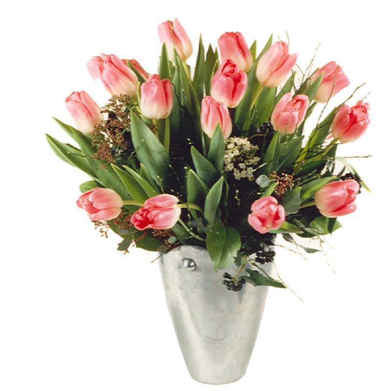 Bouquet de fleurs Tulips in Tender Pink Shades