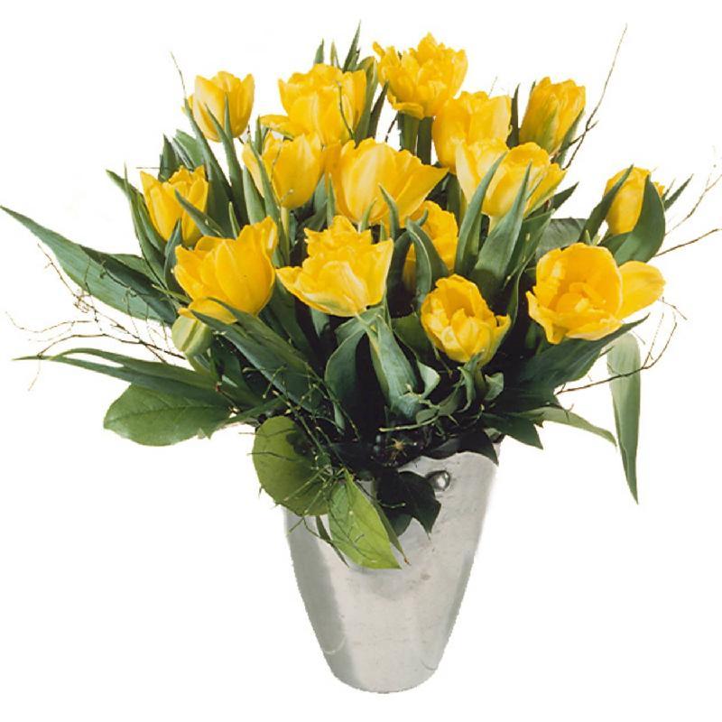 Bouquet de fleurs Bouquet of Tulips in Yellow