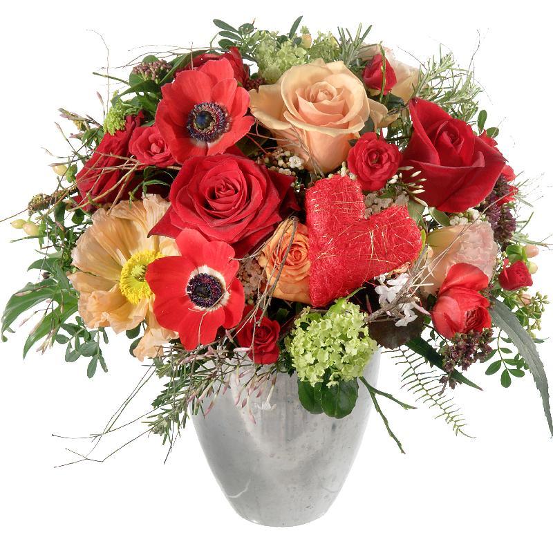 Bouquet de fleurs Valentine's Day Bouquet with red roses