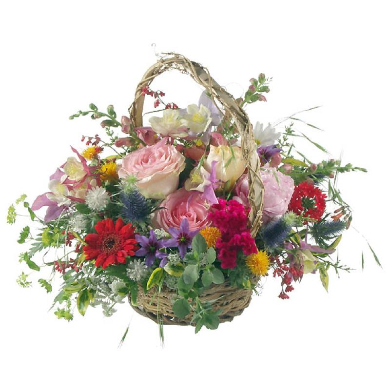 Bouquet de fleurs Romantic Seasonal Basket