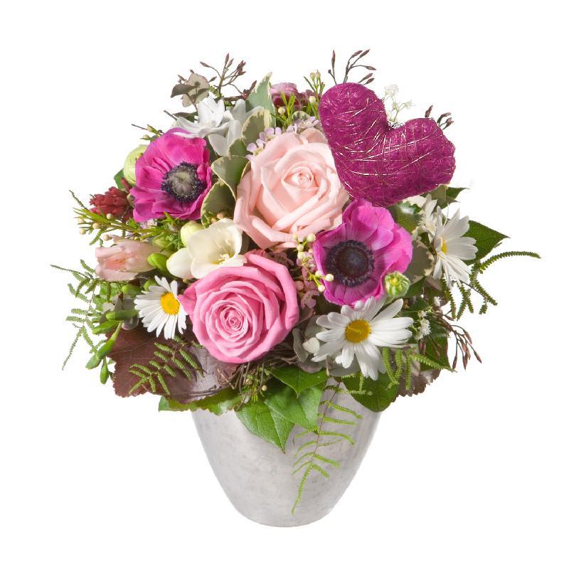 Bouquet de fleurs Butterflies in your Stomac, with heart