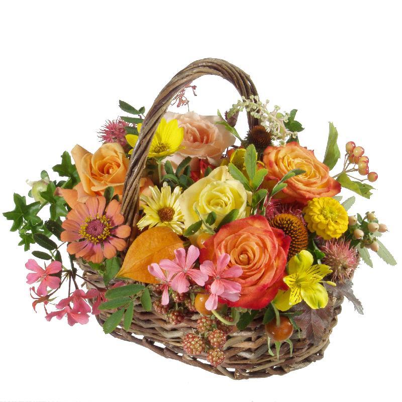 Bouquet de fleurs Natural Seasonal Basket