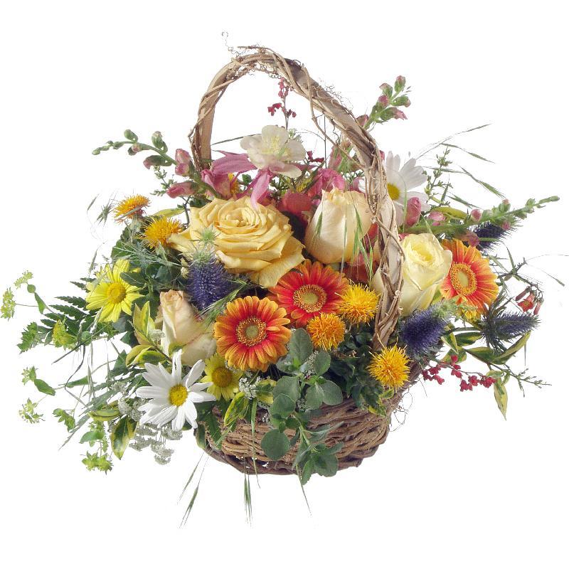 Bouquet de fleurs Natural Late Summer Basket