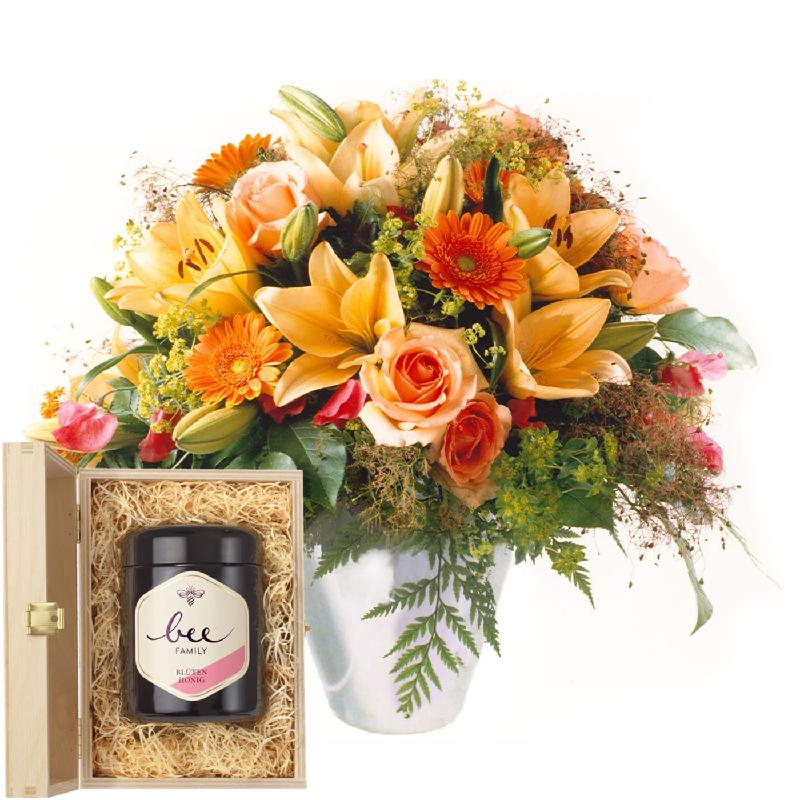 Bouquet de fleurs Gorgeous Bouquet of Flowers with Swiss blossom honey