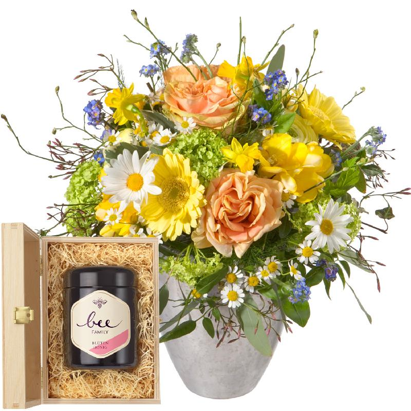 Bouquet de fleurs Spring Fairy with Swiss blossom honey