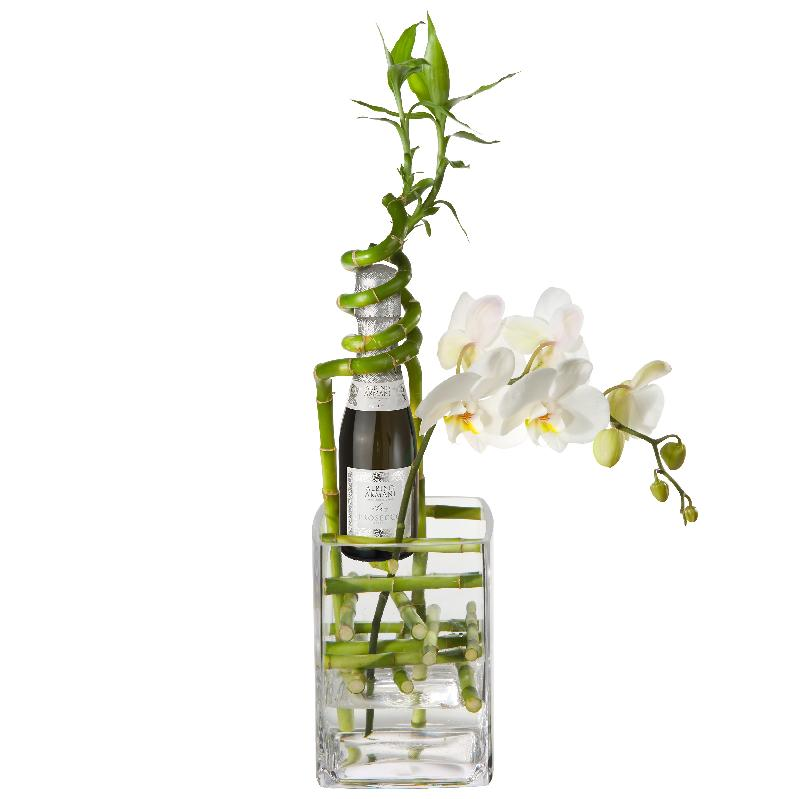 Bouquet de fleurs Exquisite Good Luck Charm with Prosecco Albino Armani DOC (2