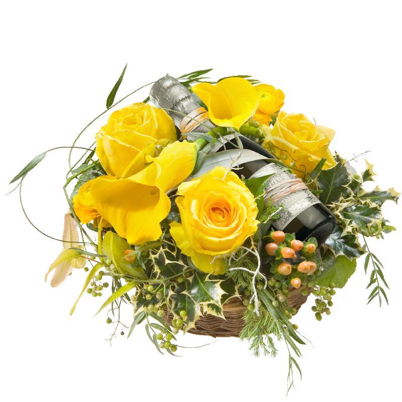 Bouquet de fleurs Party Mood, with Prosecco Albino Armani DOC (20cl)