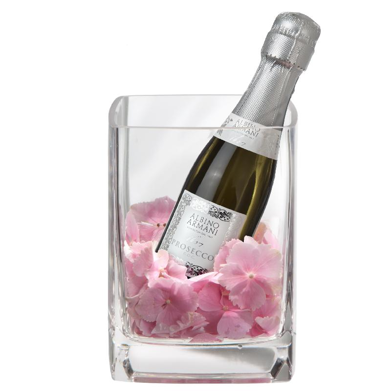 Bouquet de fleurs Heavenly and Sweet with Prosecco Albino Armani DOC (20cl)