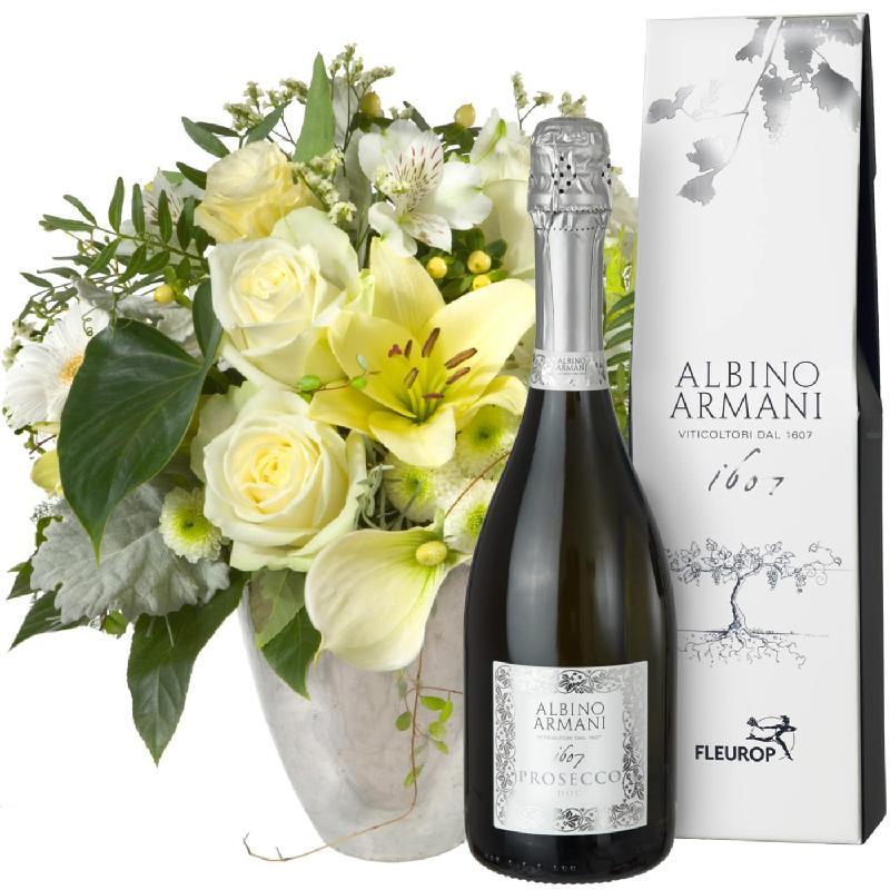 Bouquet de fleurs Exquisite Magic of Blossoms with Prosecco Albino Armani DOC