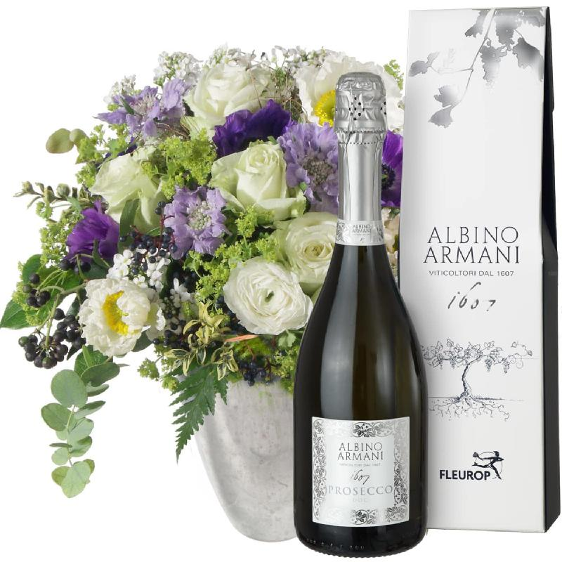 Bouquet de fleurs Heaven on Earth, with Prosecco Albino Armani DOC (75cl)