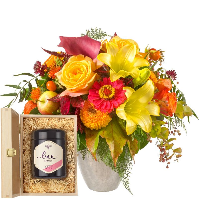 Bouquet de fleurs Late Summer Magic with delicate flowers with Swiss blossom h