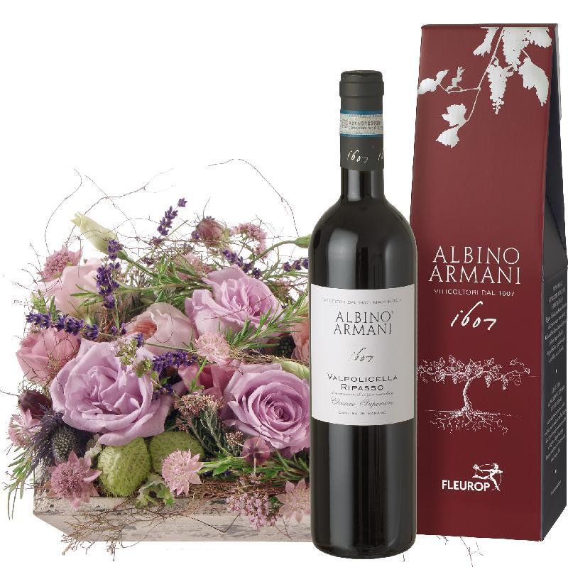 Bouquet de fleurs Southern Poetry  with Ripasso Albino Armani DOC (75cl)