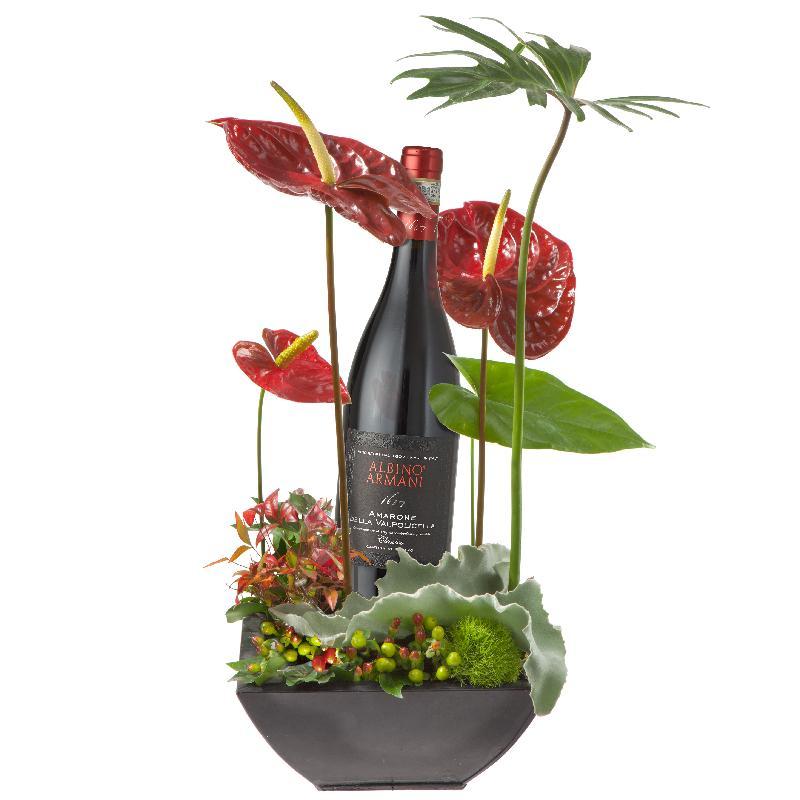 Bouquet de fleurs Italian Charm with  Amarone Albino Armanio DOCG (75cl)