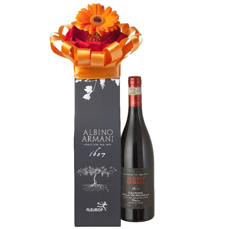 Bouquet de fleurs Enjoy Yourself: with  Amarone Albino Armani  DOCG (75cl)