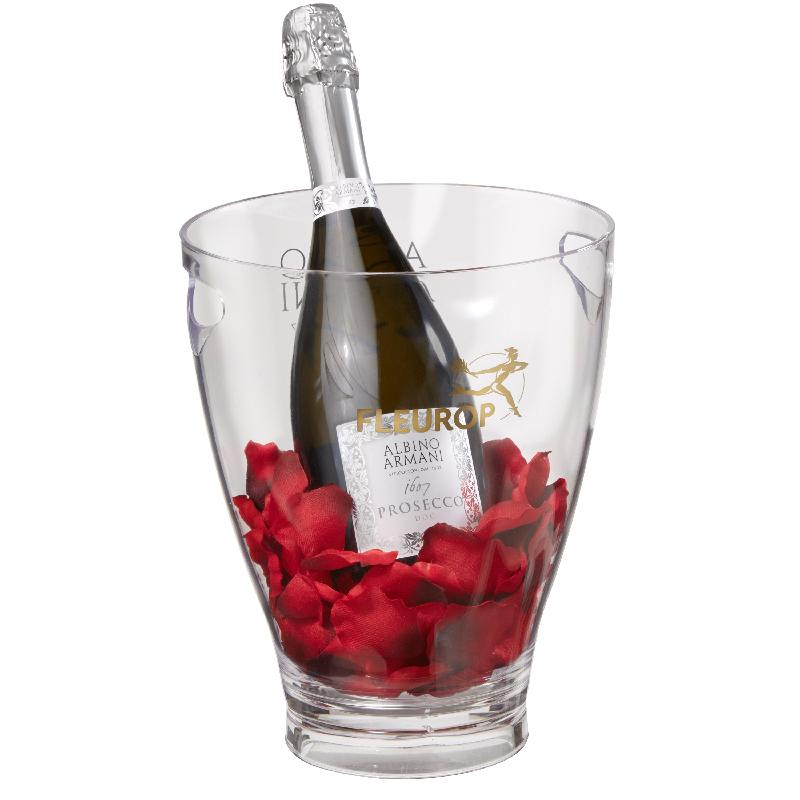 Bouquet de fleurs Let's Kiss: Prosecco Albino Armani DOC (75 cl) incl. ice buc