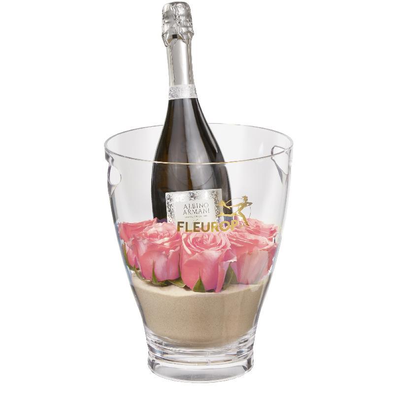 Bouquet de fleurs Hello Sweetheart: Prosecco Albino Armani DOC (75 cl) incl. i