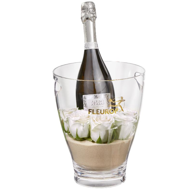 Bouquet de fleurs Hello Darling: Prosecco Albino Armani DOC (75 cl) incl. ice