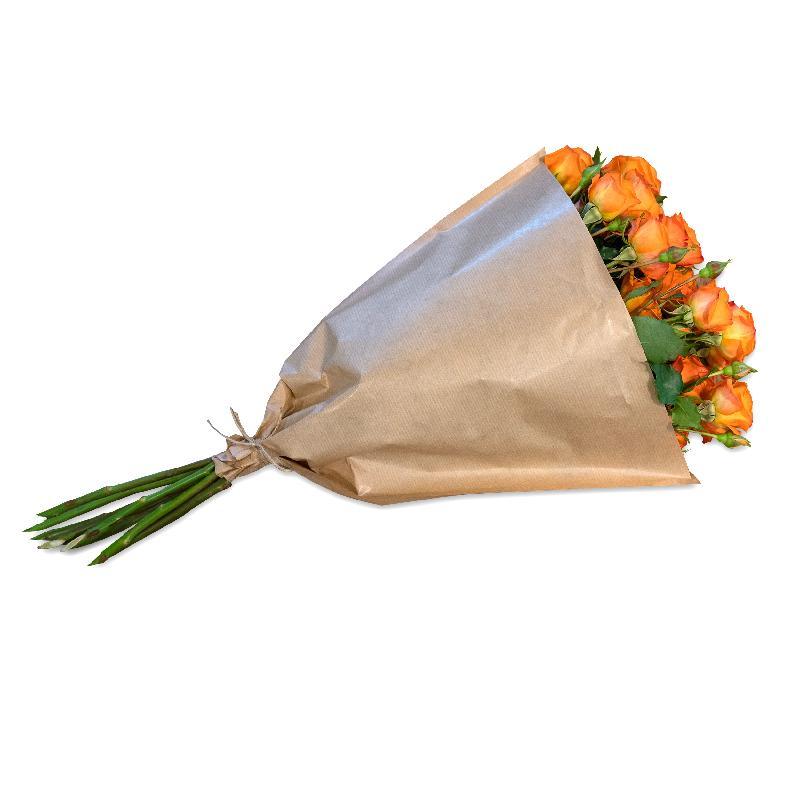 Bouquet de fleurs Bundle of orange Polyantha Roses