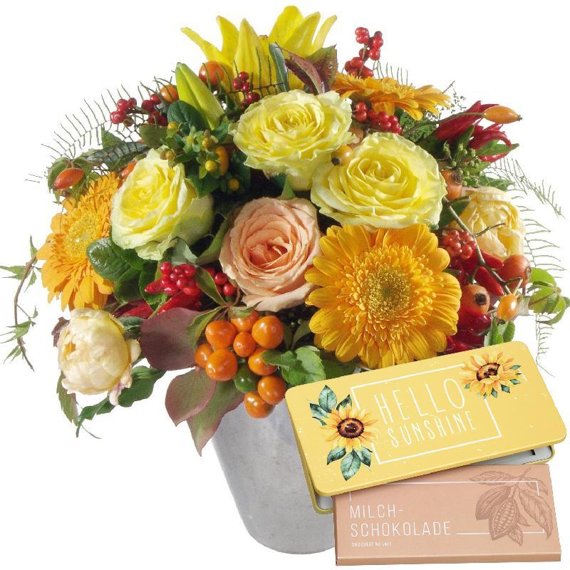 "Bouquet de fleurs Winter Sun of chocolate ""Hello Sunshine"""
