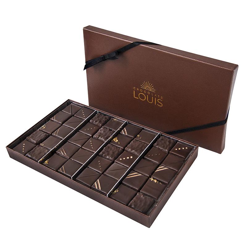 Coffret pralinés chocolat noir X 40