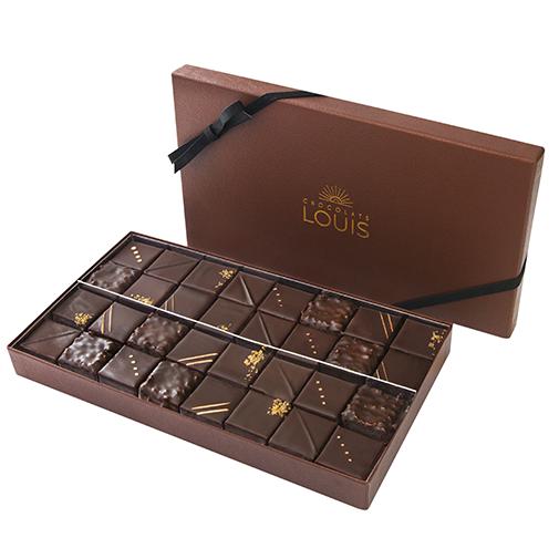 Coffret pralinés chocolat noir X 32