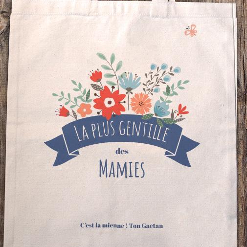 null Tote bag personnalisé - Mamie fleurie