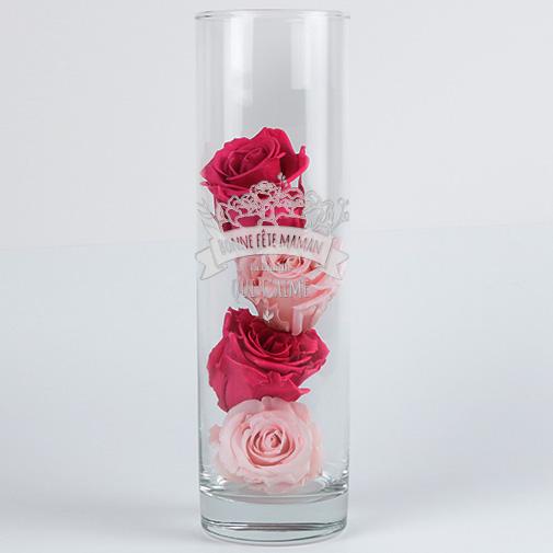 Vase Personnalisable Gravé - Collection Maman Fleurie