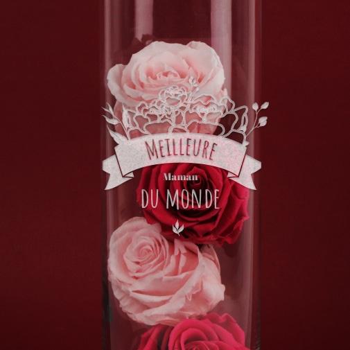 null Vase Personnalisable Gravé - Collection Maman Fleurie