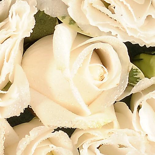 Fleurs deuil Cœur de fleurs blanches