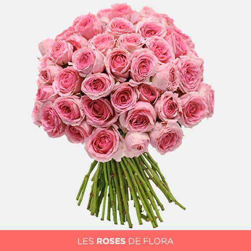 Bouquet de roses Tendre Flora - 95 boutons
