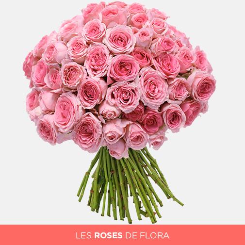 Bouquet de roses Brassée tendres roses