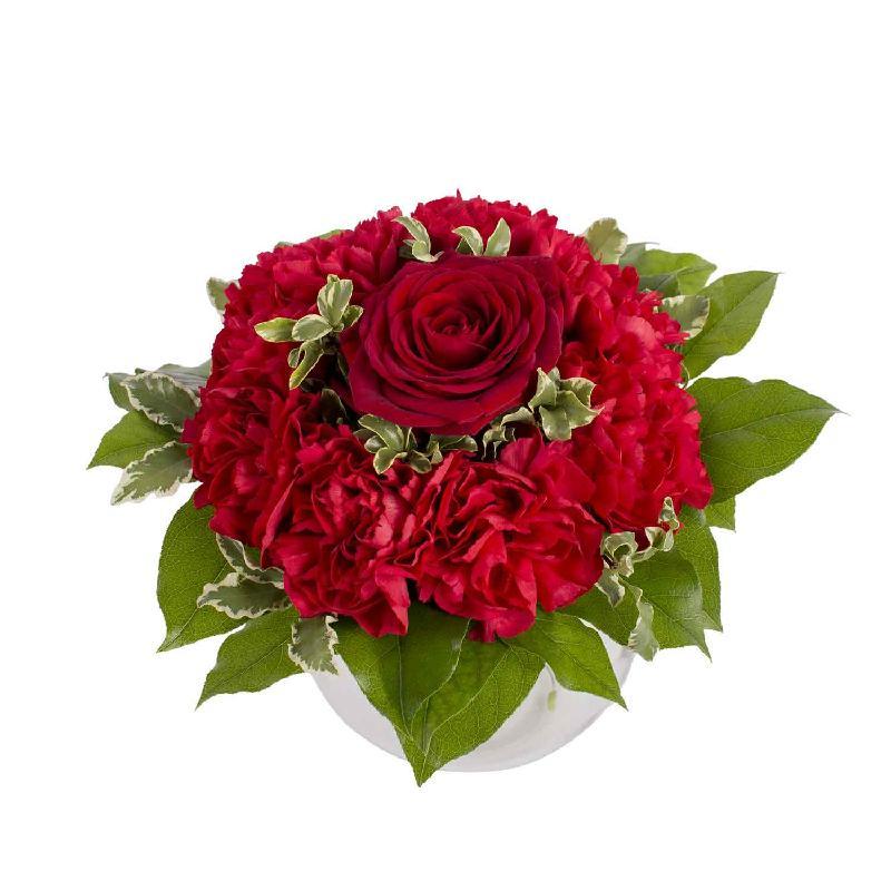 Bouquet de fleurs A kiss on the cheek