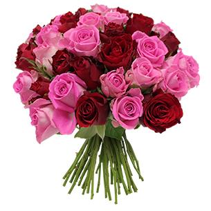 Bouquet rose et rouge +10 roses offertes - interflora
