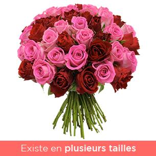 Brassee rose et rouge - interflora