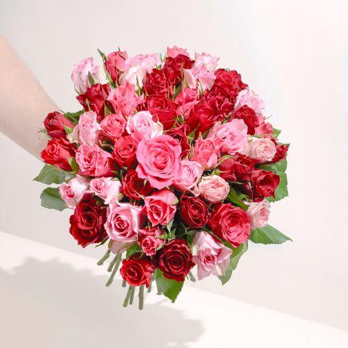 Bouquet de roses Brassée de roses roses Max Havelaar