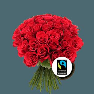 Bouquet de roses Brassée de roses rouges Max Havelaar Fête du chocolat