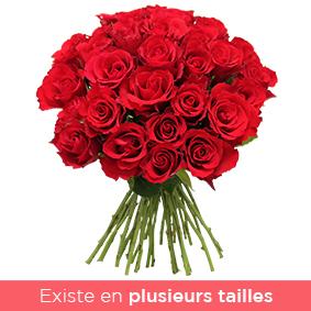 Bouquet de roses rouges par 30, 40 ou 50 - interflora